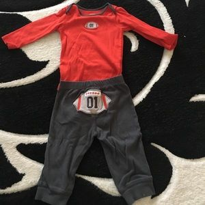 Carter's Other - Football  6 month outfit