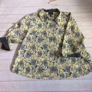 Foxcroft Tops - Foxcroft Wrinkle Free Yellow Button Down Size 24W