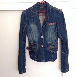 Rocawear Jackets & Blazers - RETRO ROCAWEAR JEAN JACKET Denim Med EUC