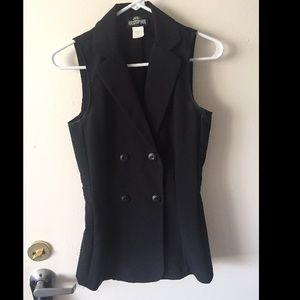 Jodi Kristopher Jackets & Blazers - Jodi Kristopher Double Breasted Black Vest
