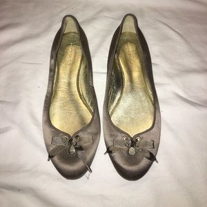 Banana republic flats satin