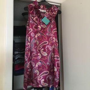 Tracy Negoshian Dresses & Skirts - Tracy Negoshian Maroon Paisley Dress