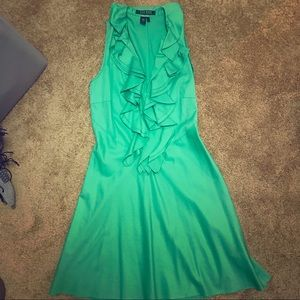 Ralph Lauren kelly green ruffle dress