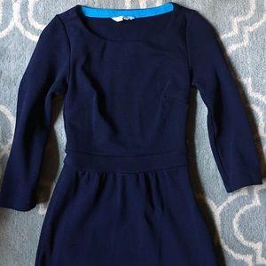 BODEN Cotton Knit Navy Blue Long Sleeved Dress