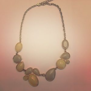 Jewelry - Cream and grey necklace