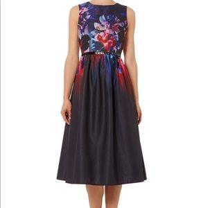 Little Mistress Dresses & Skirts - Little Mistress Black Floral Fit Flare Dress 4