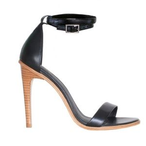 Tibi Shoes - Tibi Amber ankle sandal/heels in black leather