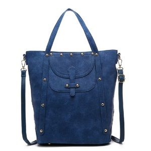 Pink Haley Handbags - Studded Maude tote in Blue