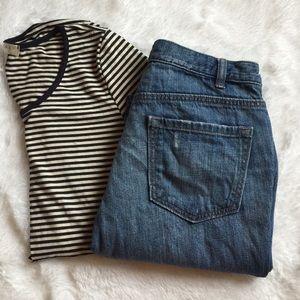 LOFT Denim - LOFT Lightly Destructed Boyfriend Jeans