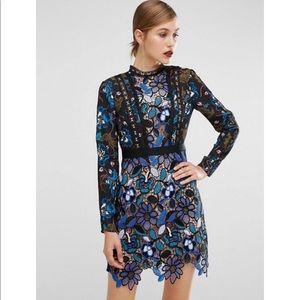Self Portrait Dresses & Skirts - 🎀1- day sale 🎀 Blue frontal lace dress
