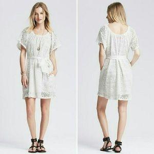 Banana republic chloe knit lace dress