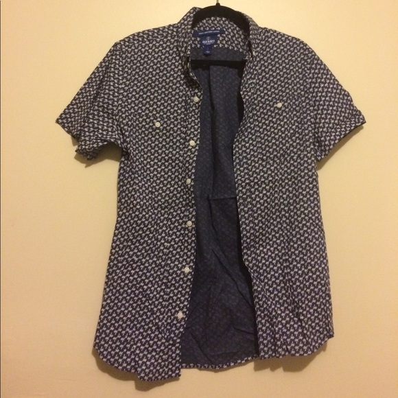 39e5ae0f6d52 Old Navy Shirts | Short Sleeve Button Down Shirt With Palm Trees ...