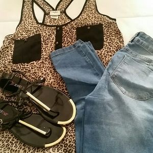 Daytrip Tops - BUNDLE OF Jeans, shirt, and sandals