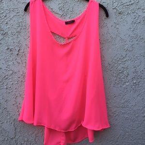 Krush Tops - Neon pink open back tank.PLEASE READ👇🏻