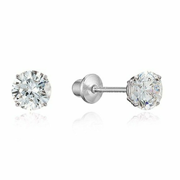 28afb5929 Jewelry | 5mm Cubic Zirconia Stud Earrings Screwback | Poshmark