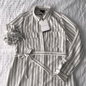a20d97926a082 Who What Wear Dresses - WHO WHAT WEAR Target striped shirt dress duster