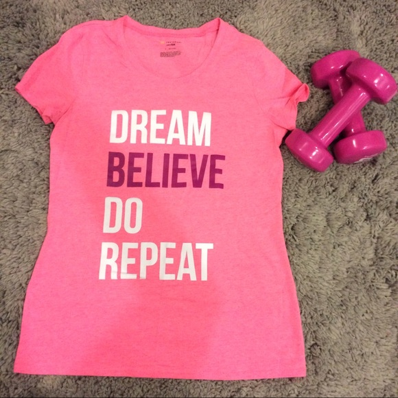 65 off tek gear tops dream believe do repeat workout for Do gucci shirts run small