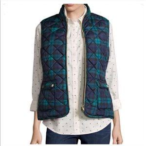 Jackets & Blazers - ❤Green Navy Plaid Puffer Vest Large