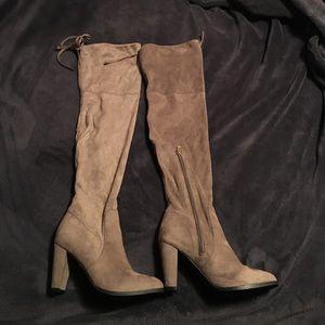 Catherine Malandrino Shoes - SORCHA FAUX FUR-LINED HEELED BOOTS