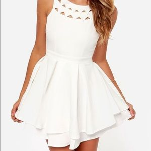 White mini lulus dress