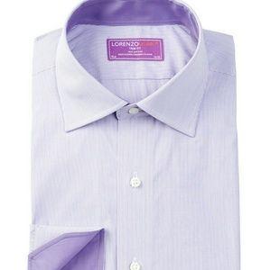 Lorenzo Uomo Other - Lorenzo Uomo Oxford Stripe Trim Fit Dress Shirt 16