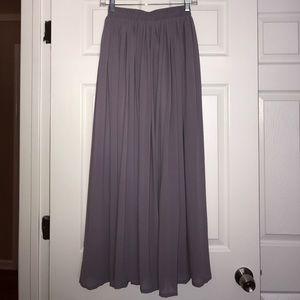 chicwish Dresses & Skirts - Chicwish Purple Pleated Maxi Skirt S