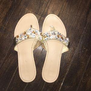 Bamboo gem slide on sandals size 7