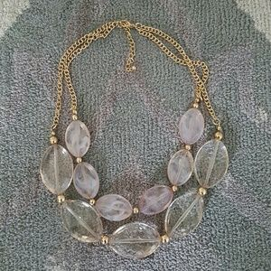 Jewelry - NWOT Beaded Gold Necklace