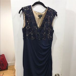connected apparel Dresses & Skirts - Navy Lace Formal Dress Size 14