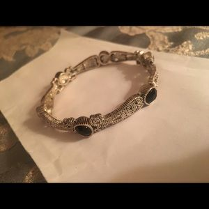 Charming Charlie Jewelry - Charming Charlie black and silver bracelet