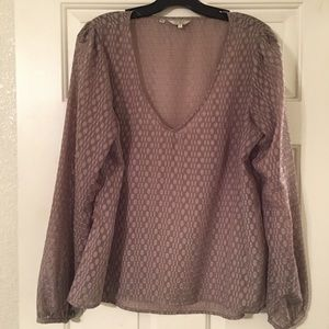 Guess Tops - Guess Textured V-Neck Top.