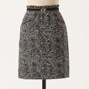 Anthropologie Elevenses Painted Night skirt