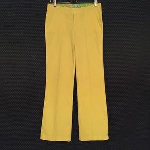 Lilly Pulitzer Yellow Soft Pants Size 6