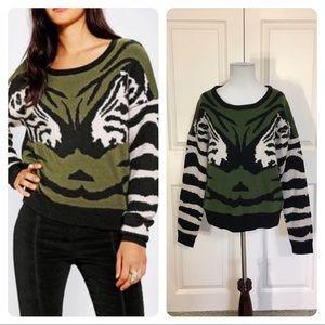 Urban Outfitters Numph Zebra Kiss Sweater