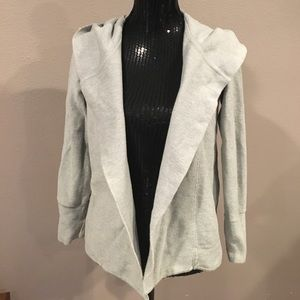James Perse Sweaters - James Perse ribbed hooded cotton cardigan. Size 2