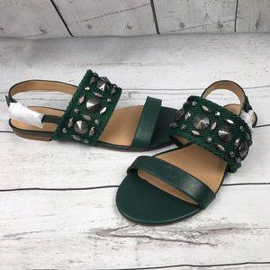 Banana Republic Shoes - Banana Republic embellished hunter green sandals
