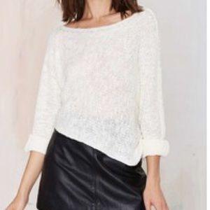 """Nasty Gal Sweaters - Solemio x Nasty Gal """"Uma"""" Asymmetrical Sweater."""