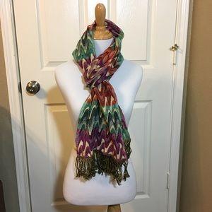 "tolani Accessories - Tolani scarf 71"" x 10.5"" chevron print"
