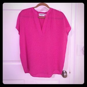 WANT Les Essentiels Tops - WORN ONCE! Essential Antwerp silk pink shirt