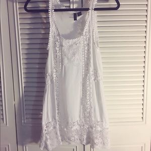 Tilly's Dresses & Skirts - White Crotchet Mini Dress
