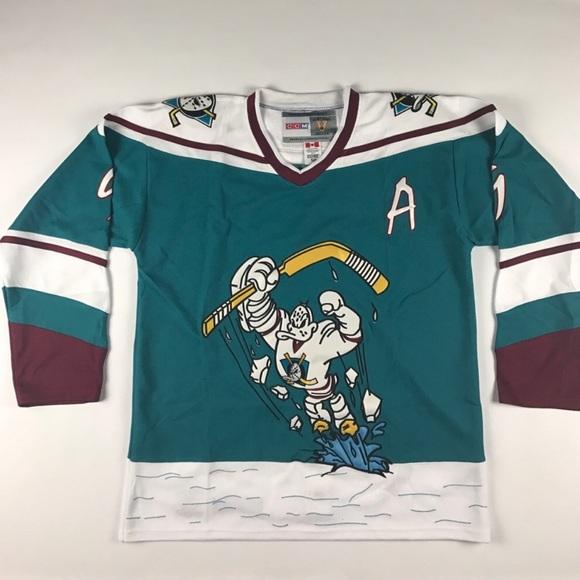 Rare New Mighty Ducks Kariya Hockey Jersey White 0eeff45fca6f