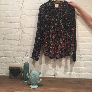 Maeve long sleeve blouse