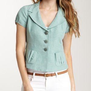 Armani Collezioni Jackets & Blazers - Armani Collezioni Silk Blend Short Sleeve Jacket