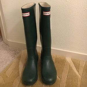Hunter Boot Original Tall Rain boot  Hunter Green