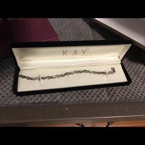 Kay Jewelers Jewelry - Kay jewelers black & silver diamond bracelet