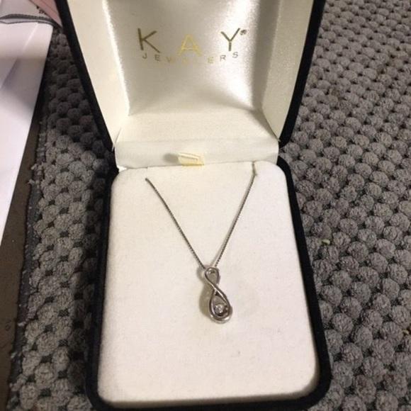 Kay Jewelers Jewelry Floating Diamond Infinity Necklace Poshmark