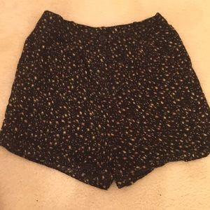American Apparel Floral High-Waisted Shorts