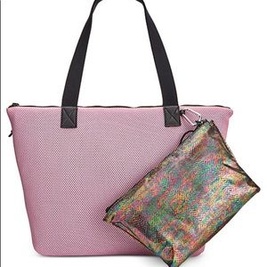 Ideology Handbags - Pink tote with pouch