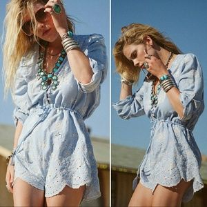 Spell designs casablanca romper chambray play suit
