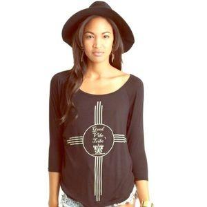 Neoclassics Tops - Black Good Vibes Shirt